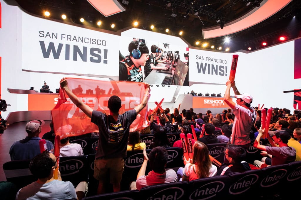 Digital marketing in gaming makes its way into the competitive esports scene in professional scenes like the Overwatch League.