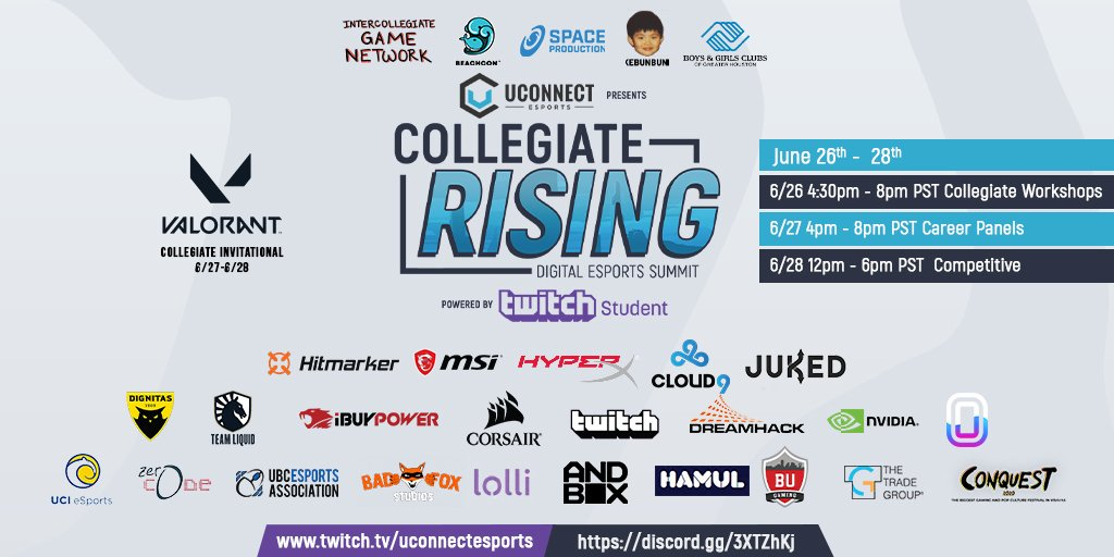 UConnect had many partners and sponsors for their Collegiate Rising event for digital marketing in gaming.