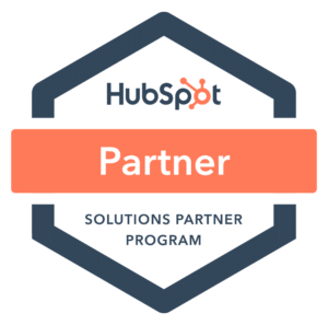 A badge representing our partnership with HubSpot for digital marketing