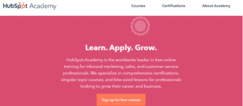 Learn from HubSpot Academy's free digital marketing courses.