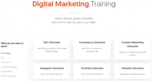 Neil Patel has resources for you to learn digital marketing for free.