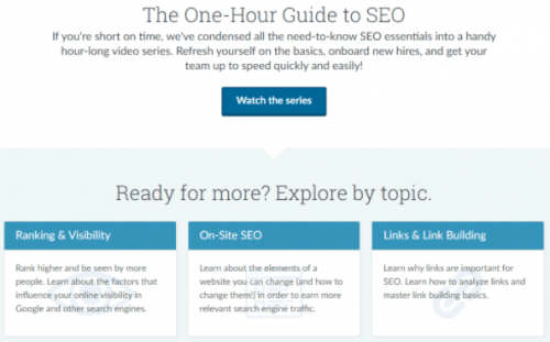 Moz specializes in SEO for learning digital marketing.