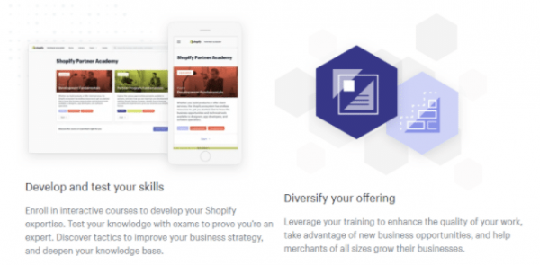 Shopify fills in the ecommerce area of your digital marketing learning.