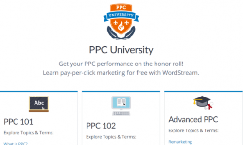 WordStream's free digital marketing resources focuses on Pay-Per-Click marketing.